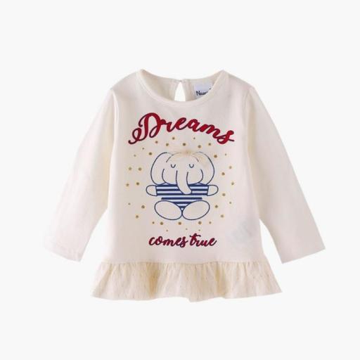 CAMISETA M/LARGA DREAMS ELEFANTE