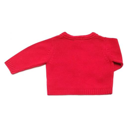 Chaqueta bebé niño punto verano Cóndor - Rojo [2]