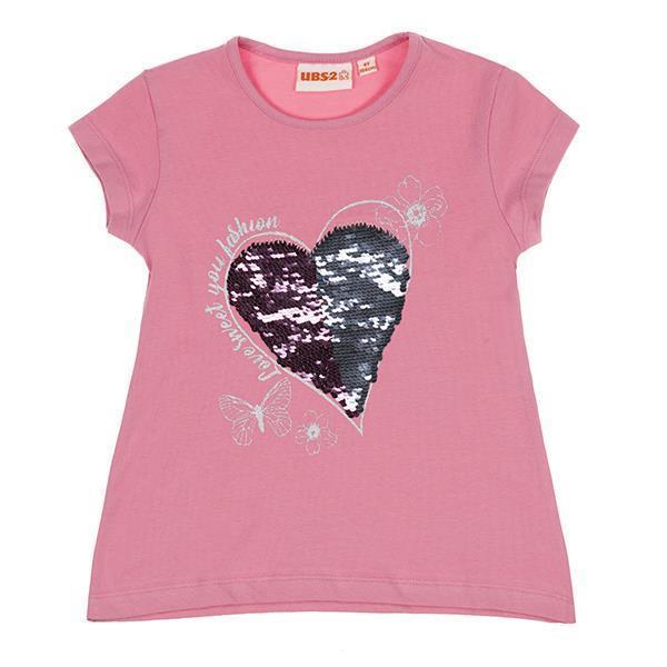Ubs2 Camiseta niña verano manga corta lentejuelas mágicas E199716.Jpeg