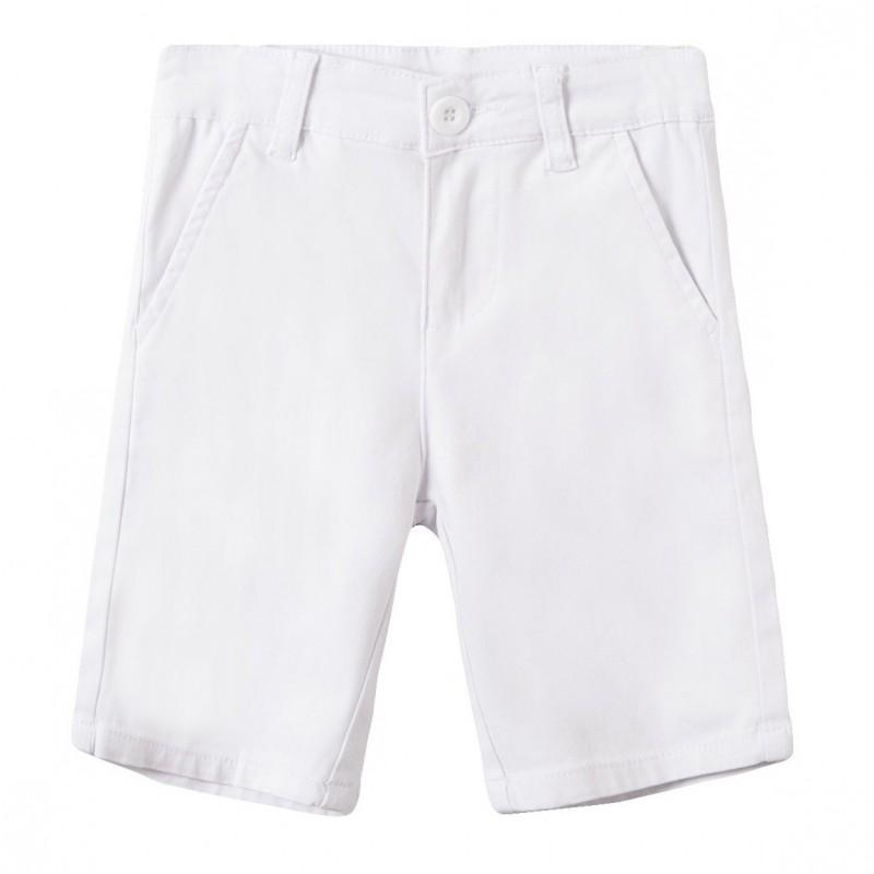 Newness Pantalón corto chino niño blanco JBV59232.jpg