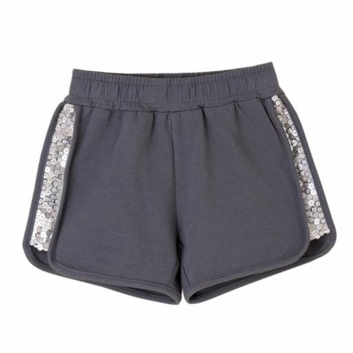 Newness Pantalón corto short niña algodón lentejuelas JGV61778.jpg