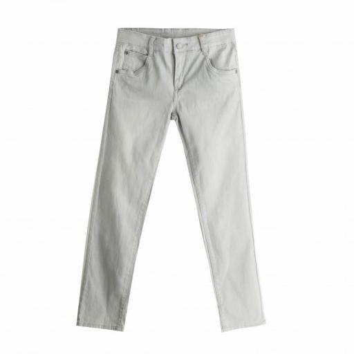PANTALÓN LONETA COLOR GRIS CLARO SLIM