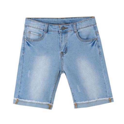 Newness Pantalón corto niño vaquero claro KBV51418.jpg