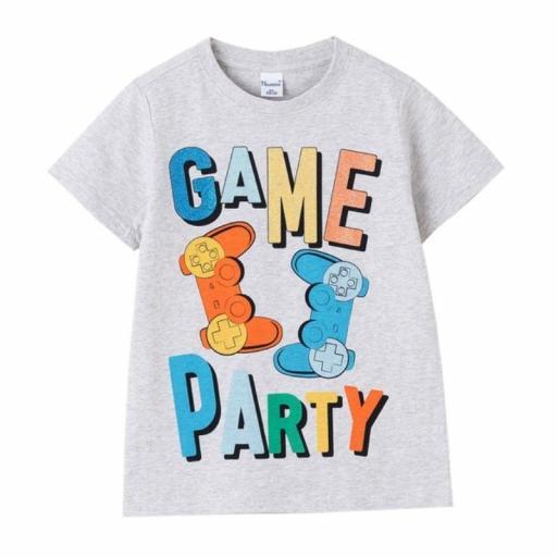 Newness Camiseta niño verano manga corta Game Party KBV614120.jpg