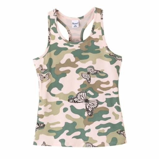 Newness Camiseta niña verano camuflaje espalda nadador KGV61937.jpg