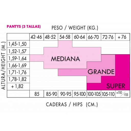 PANTY OPAC MATE 100 DENIERS - 5 COLORES [2]