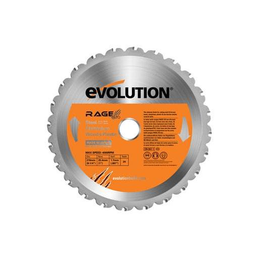 "DISCO EVO 210 mm. RAGE 3 "" S "" MULTI-MAT"