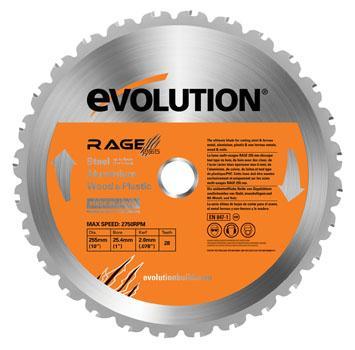 "DISCO EVO 255 mm. ""RAGE-3"" INGLETADORA"