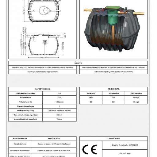 PACK FOSA FILTRO 2700 litros + TUNEL INFILTRACIÓN 2400 litros 9 habitantes [2]