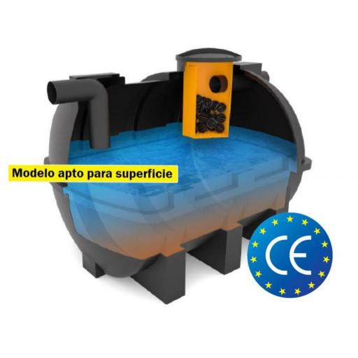 FOSA FILTRO 3000 litros 10 hab ENTERRAR/SUPERFICIE