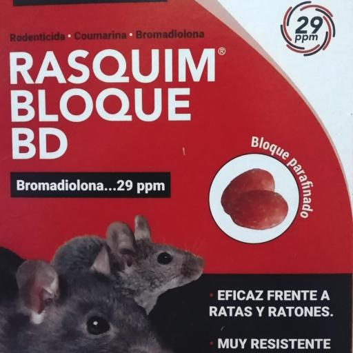 rasquim bloque bd bromadiolona 29ppm 300g.