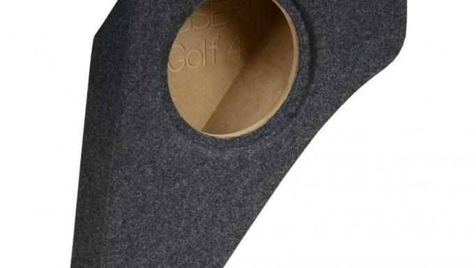 """Fits to Volkswagen Golf 4 1997 - 2006 except R32 and 4Motion, subwoofer 8""""/20cm"""
