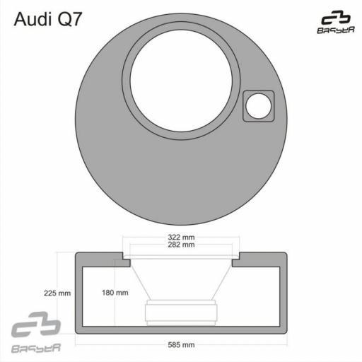 Caja de subwoofer específica Audi Q7 [1]