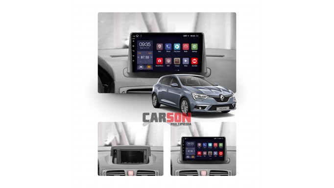"""Megane III  9"""" Android 10, Carplay y Android auto"""