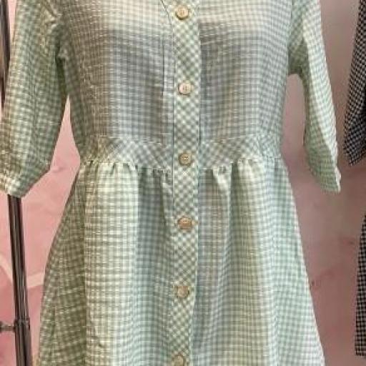 Vestido Vichy Cuadros Verde [3]