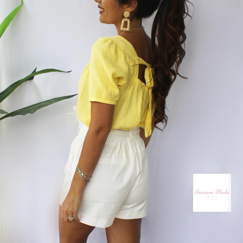 Blusa Lazada Espalda Amarilla