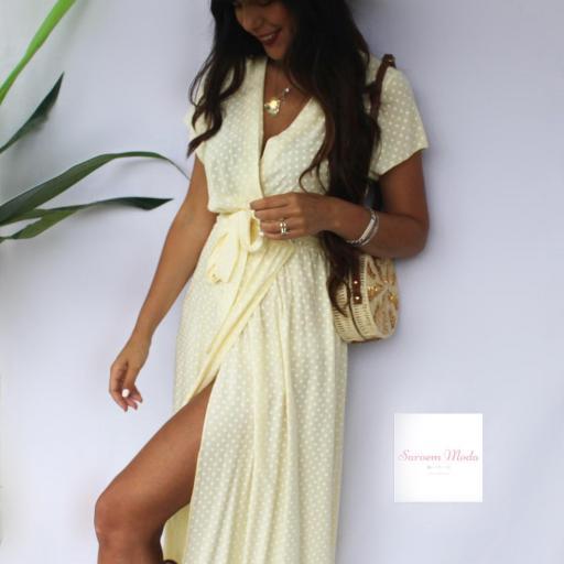 Vestido Lunares Amarillo [2]