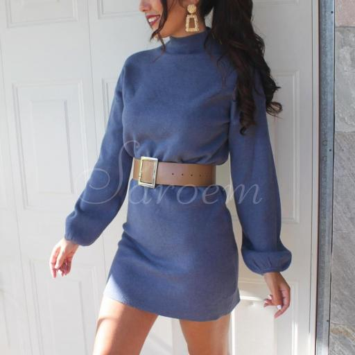 Maxi Jersey Tacto Suave Azul