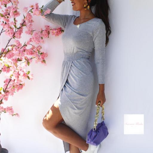 Vestido Tavira Gris