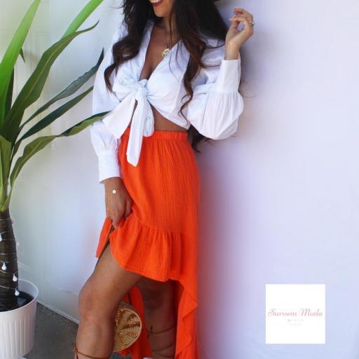 Falda Boho Naranja [1]