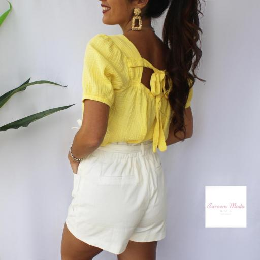 Blusa Lazada Espalda Amarilla [3]