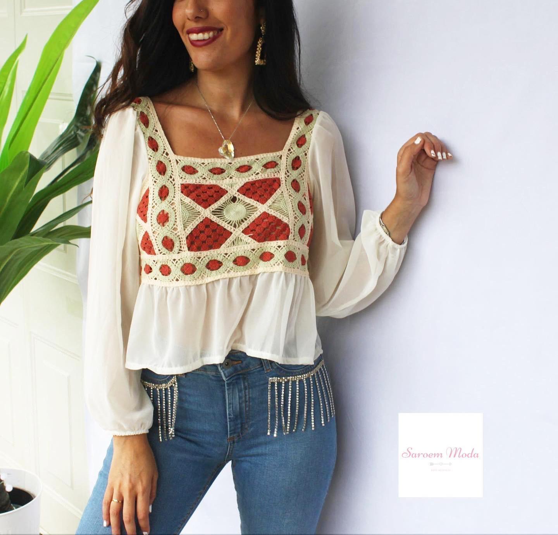 Blusa Crochet
