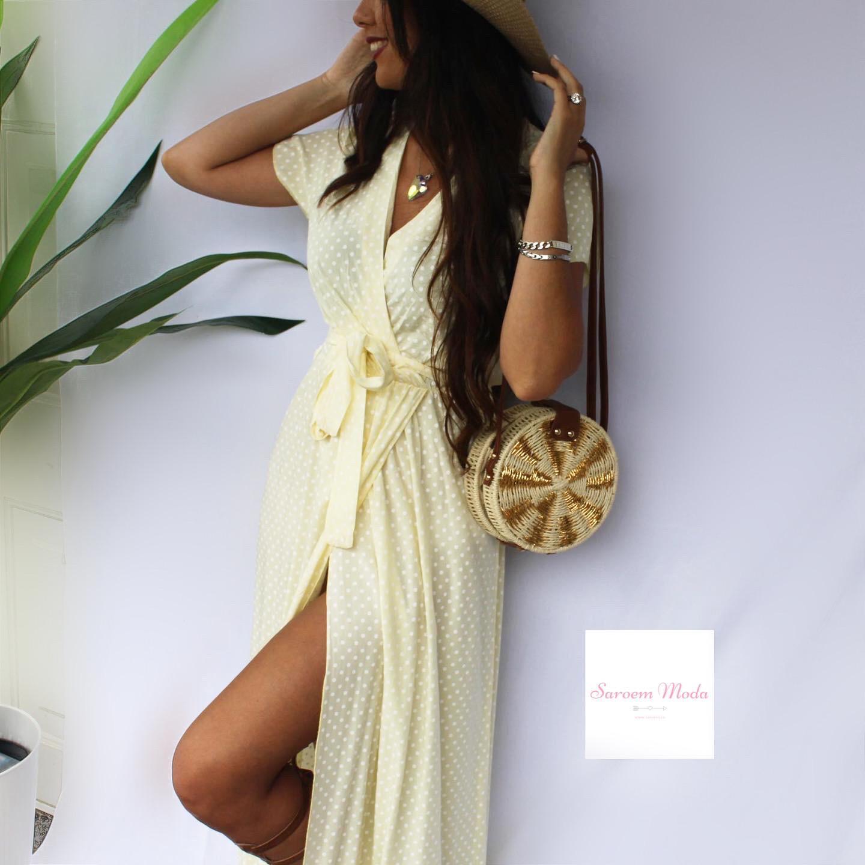 Vestido Lunares Amarillo
