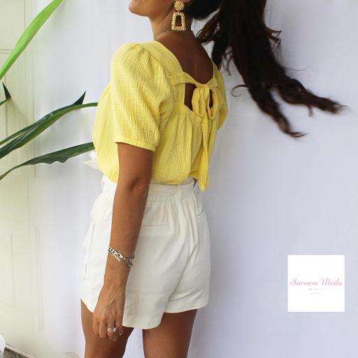 Blusa Lazada Espalda Amarilla [2]