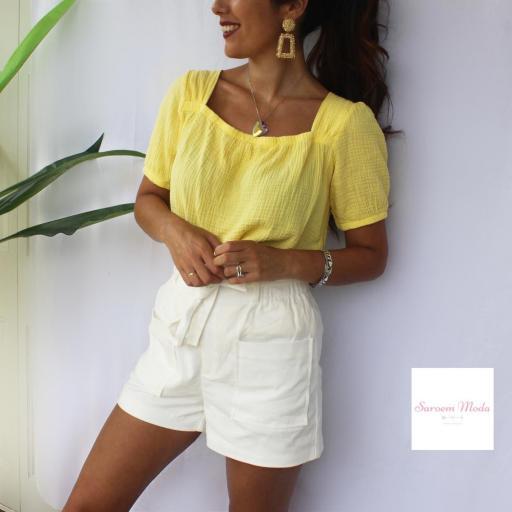 Blusa Lazada Espalda Amarilla [1]