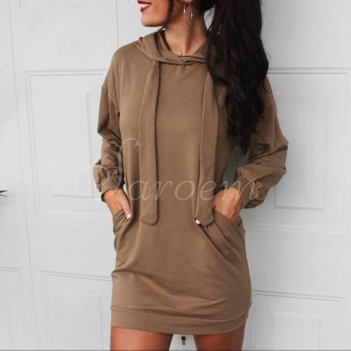 Maxi Sudadera Vestido Camel [2]