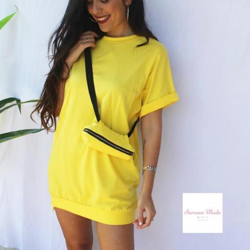 Vestido Riñonera Amarilla