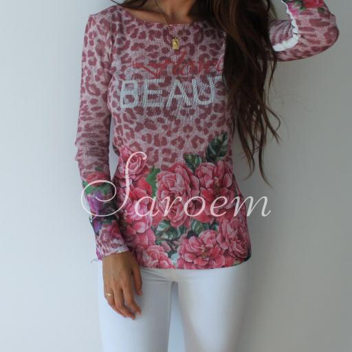 Jersey Flores Rosa [1]