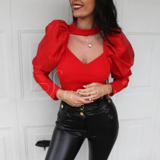 Blusa Volumen Roja [2]