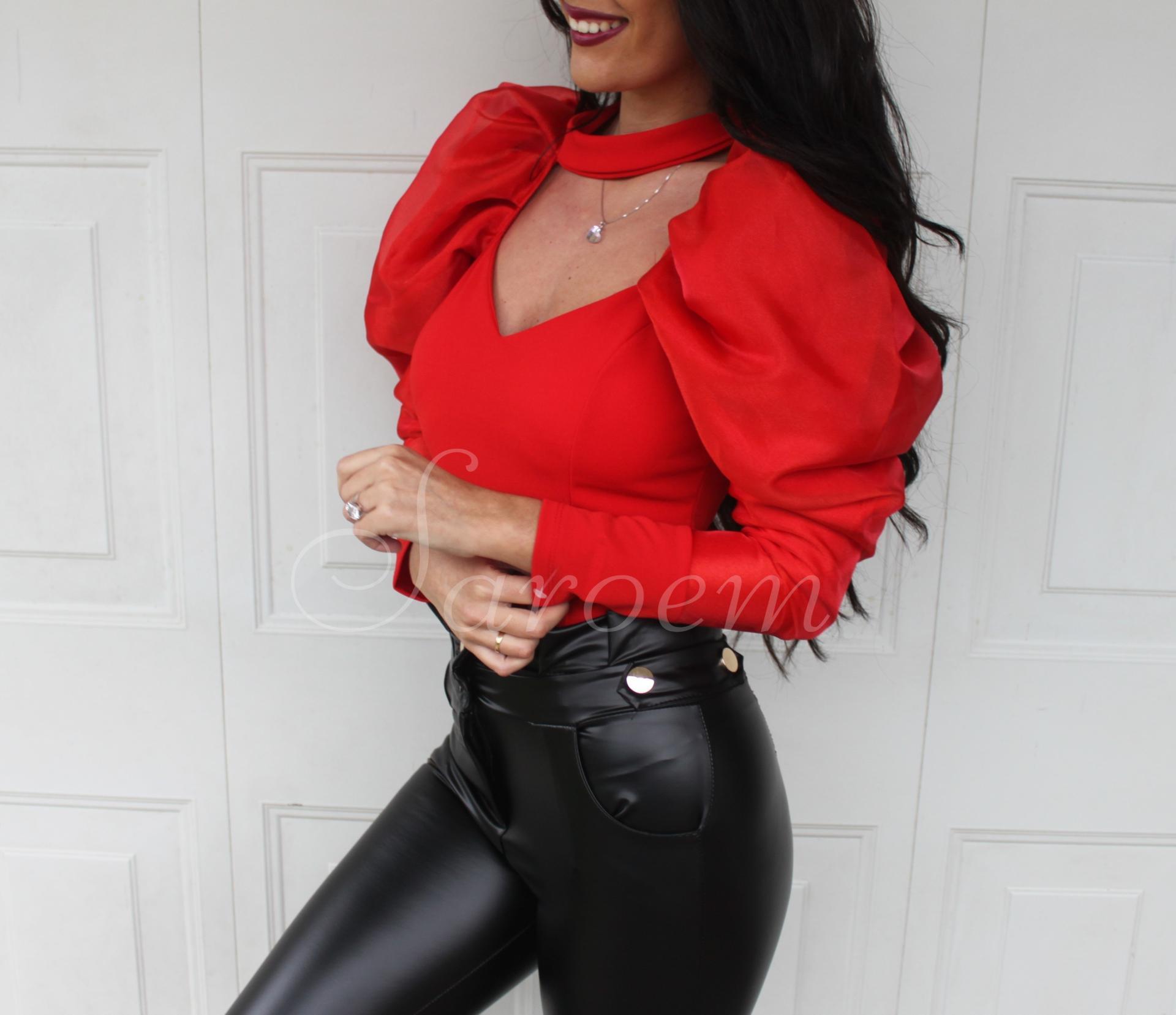 Blusa Volumen Roja