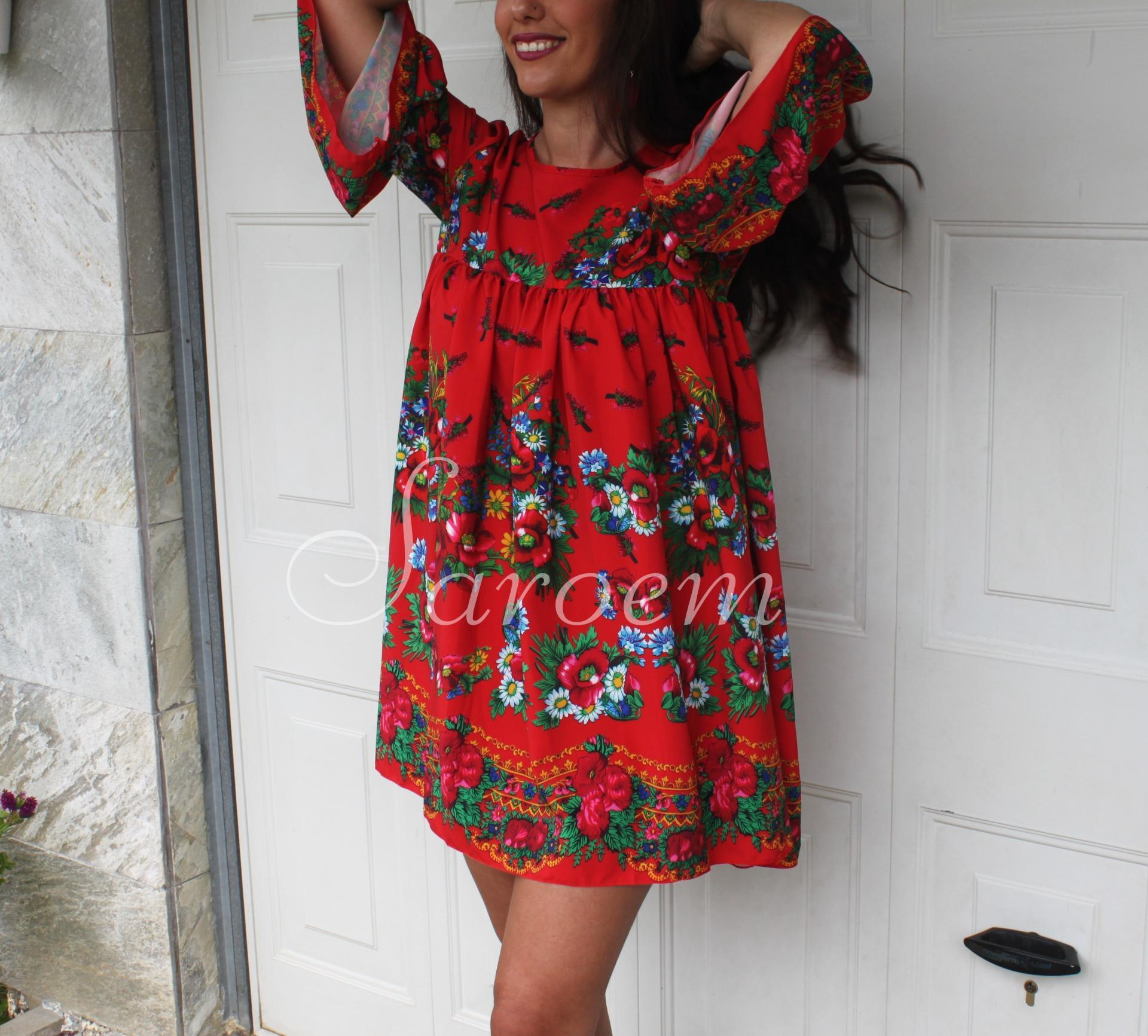 Vestido México Rojo