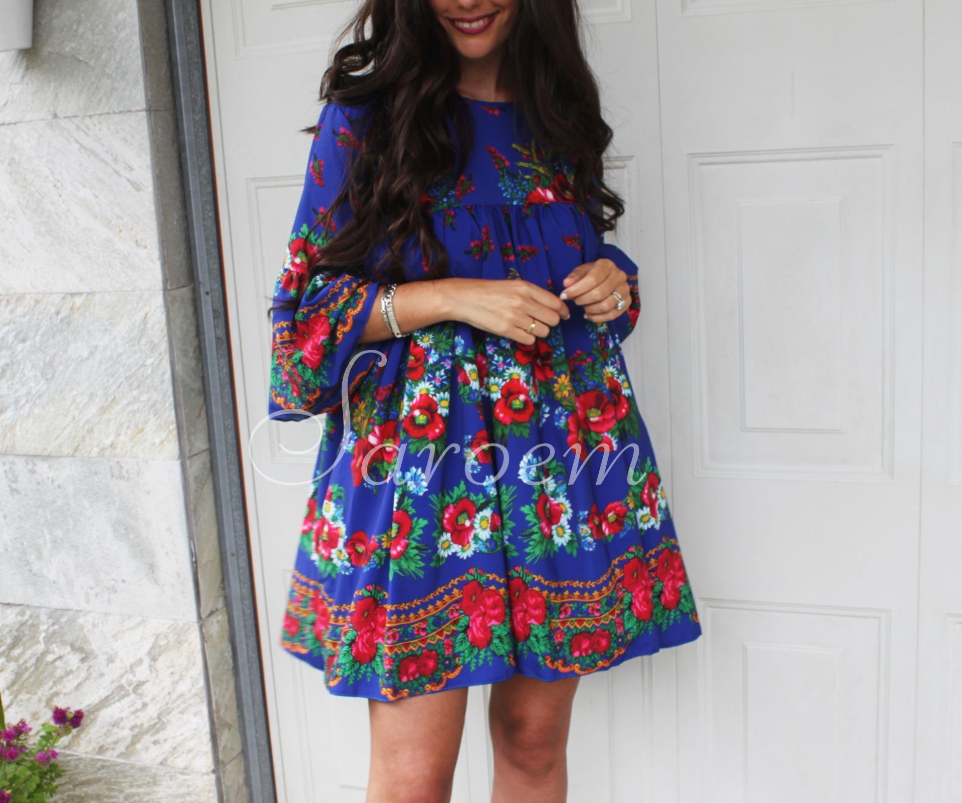 Vestido México Azul