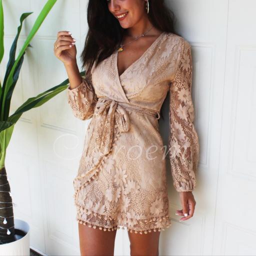 Vestido Chiara Beige