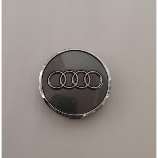 """61 x 57 mm. Tapa Buje Rueda """"Audi""""   Color  PLATA Ref. 4M0 601 170  o   8W0 601 170 [1]"""