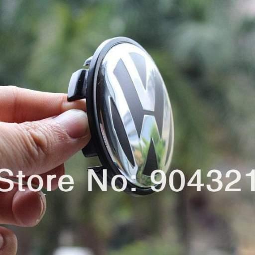 "65 x 56 mm. Tapa  buje rueda  ""VW Volkswagen""  Diametro:  Exterior 65mm. Interior 56mm.  (Aproximado) [1]"