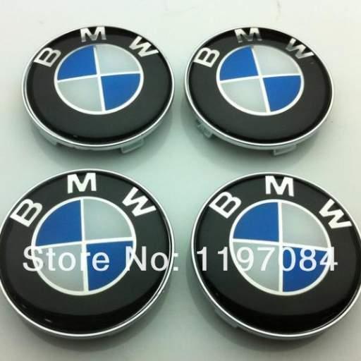 Tapa Buje rueda,  valido para BMW   Diametro:  Exterior 68mm.  Interior 65 mm.)