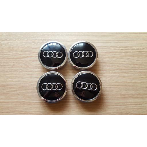 "69 x 58 mm. Tapa Buje Rueda -  Valido para  Audi   Color  Negro   Diametro: Exterior 69mm. Interior 58mm.""  (Aproximadamente) Tapacubos"