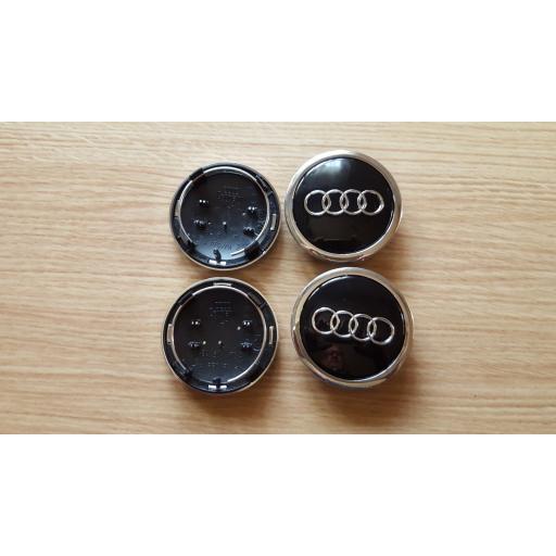 "69 x 58 mm. Tapa Buje Rueda -  Valido para  Audi   Color  Negro   Diametro: Exterior 69mm. Interior 58mm.""  (Aproximadamente) Tapacubos [1]"