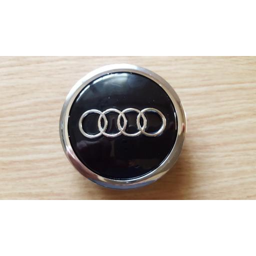 "69 x 58 mm. Tapa Buje Rueda -  Valido para  Audi   Color  Negro   Diametro: Exterior 69mm. Interior 58mm.""  (Aproximadamente) Tapacubos [3]"