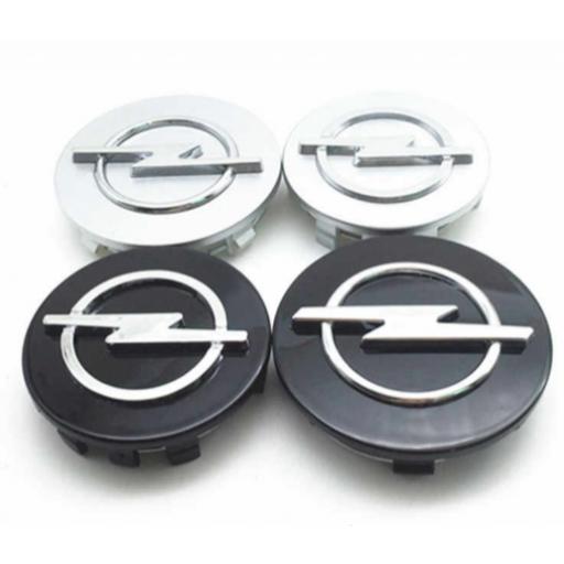 "Tapa Buje  59 * 55 mm.  Rueda  ""Opel"" Color Plata  [3]"