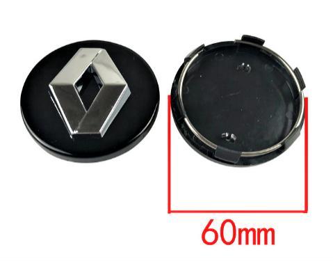 "Tapa  60 Exterior * 57 mm Interior. Buje  Rueda  ""Renault"" Color  NEGRO"