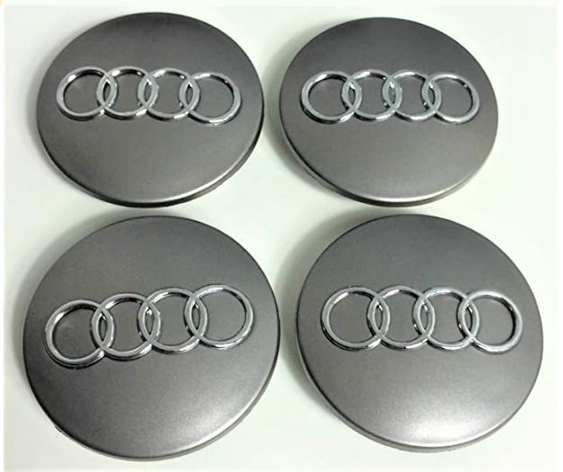 """68 x 56 mm. Tapa Buje Rueda """"Audi""""   Color  PLATA Ref.  8D0 601 170"""