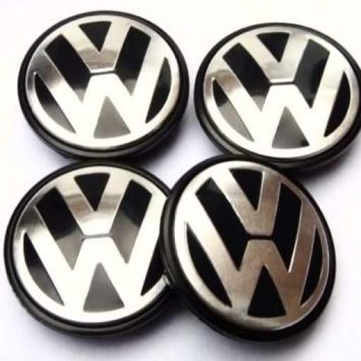 """70 x 58 mm. Tapa  buje rueda  """"VW volkswagen""""  Diametro:  Exterior 70mm. Interior 58mm."""