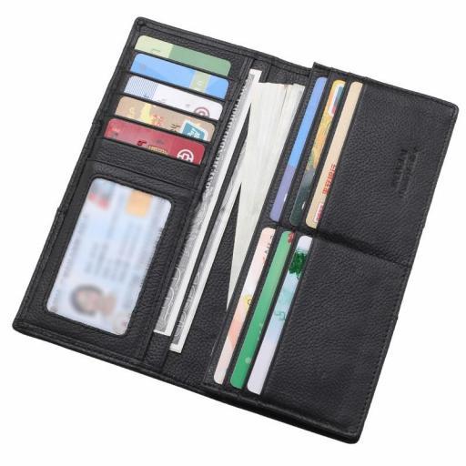 Cartera billetera larga de cuero 100%  Hombre - Mujer