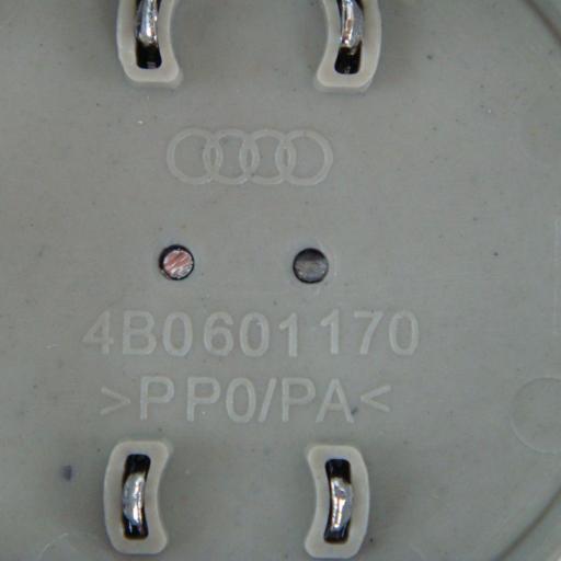 "60 x 56 mm. Tapa Buje Rueda ""Audi""   Color  Gris Oscuro  Diametro: Exterior 60mm. Interior 56mm."" [2]"