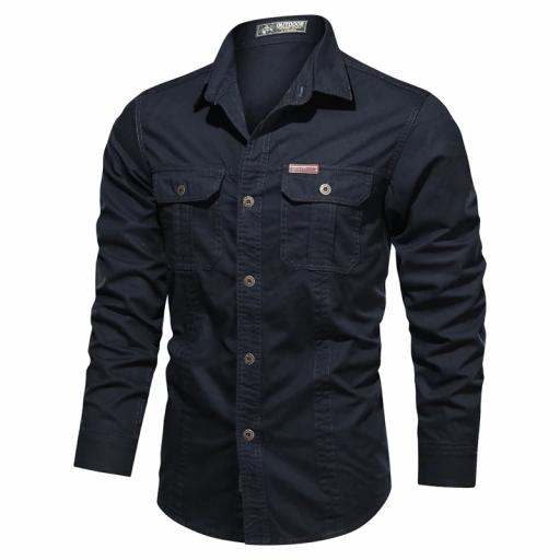 Camisa  Sport C/Azul Marino  M/L  100% Algodon  Especial:  Caza, Off-Road, Senderismo, Pesca, Etc... [2]